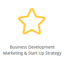 Icona business development e strategia per start up